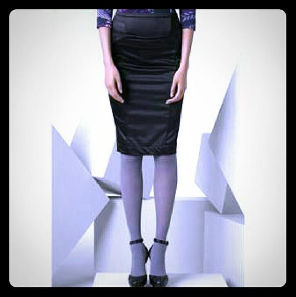 9e46c4f579 Just Cavalli Skirts | Navy Blue Satin Pencil Skirt | Poshmark