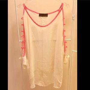"""Vintage Savannah"" Sheer Top"