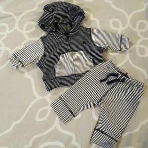Baby Gap Striped Sweatshirt and matching joggers