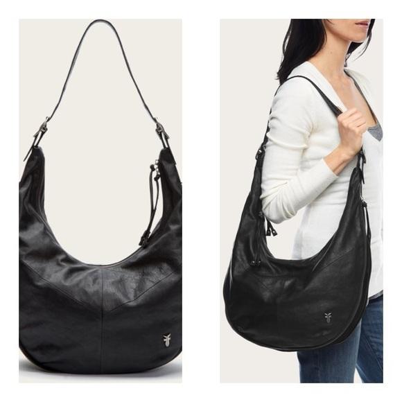 8180650fbb Frye Handbags - Frye Belle Bohemian Hobo Black EUC