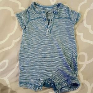 Baby Gap blue and white striped summer romper