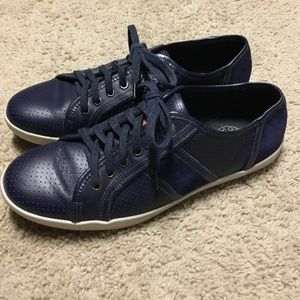 M by Monderer Other - SALE! M by Monderer Blue Leather & Suede Sneakers