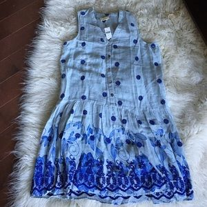 NWT Anthropologie Maeve embroidered dress