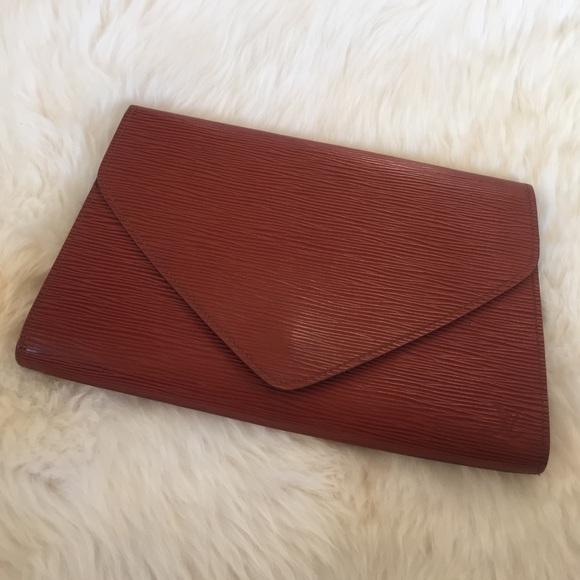 b874c78bd17d1 Louis Vuitton Bags | Art Deco Epi Clutch Vintage | Poshmark