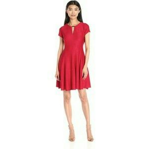 Gabby Skye Dresses & Skirts - Red Keyhole Fit & Flare Dress