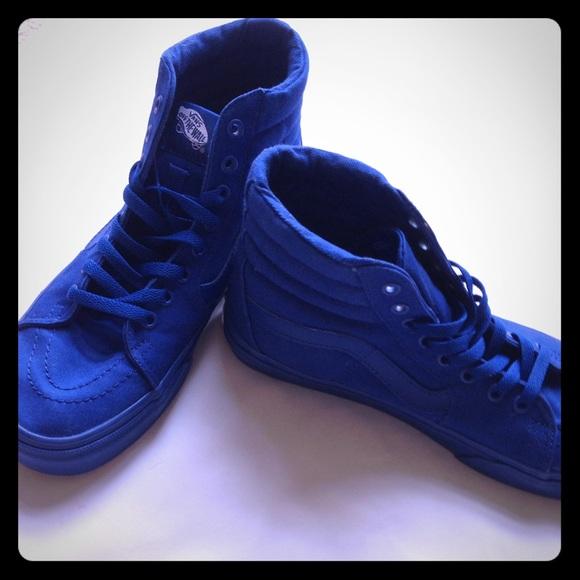 high top vans blue
