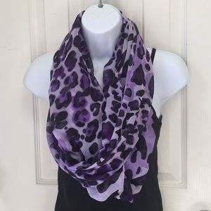 Accessories - Purple leopard infinity scarf
