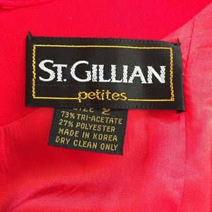 St. Gillian Dresses - Lady in Red! 2-Piece Dress with Bolero Jacket