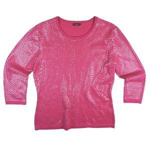 J. McLaughlin Sweaters - J McLaughlin Pink Sequin Crewneck Sweater