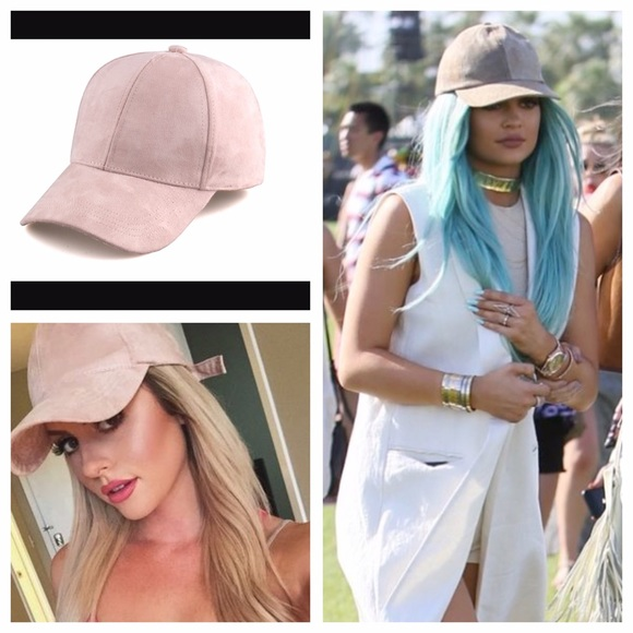 f5a9a1faf15b4 Kylie Jenner inspired suede nude baseball hat