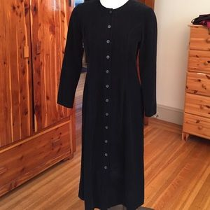 Vintage Fine-wale Corduroy Dress with Back Tab