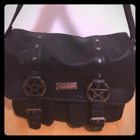 410aecbce708 Killstar Handbags - Killstar Pentagram Black Messenger Bag