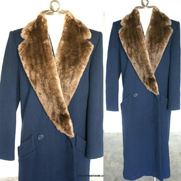 24c2d47dd1 90s Vintage Perry Ellis Portfolio Wool Trench Coat