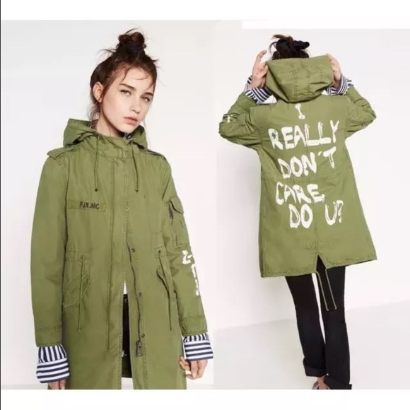 Zara - SOLDZARA KHAKI GREEN PARKA from Momo's closet on Poshmark