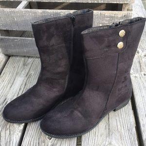 Propet Shoes - Propet Black Vegan Suede Button Booties! NEW!