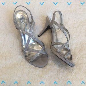 Nina Shoes - Nina silver sparkly wedding shoes!