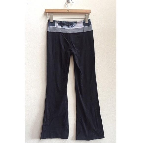 65% off lululemon athletica Pants - Black Tie Dye Band Bootcut ...