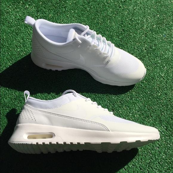 46e1096ab3da Nike Air Max Thea women s triple white sneakers