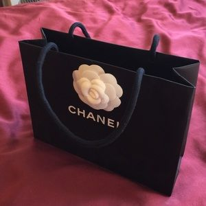 Authentic Chanel small shopping bag Camellia
