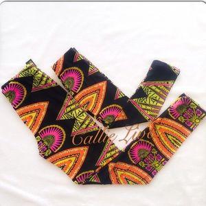 Mommy & Me Leggings African Print Tribal Art