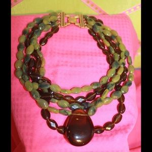 Jewelry - SALE! Jade Green Statement Necklace