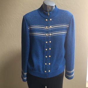 St. John Sweaters - St. John Blue & White Size 6 Beautiful Blue 💙