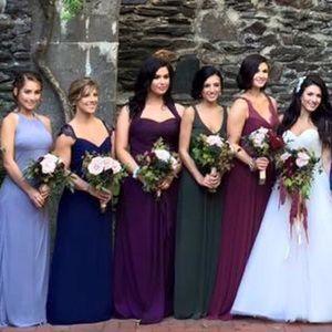 580824c3d24 Bari Jay Dresses - Bari Jay aubergine bridesmaid dress