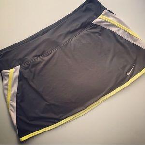 Nike Dri-Fit Skort Gray Yellow White