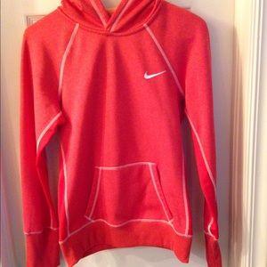 Nike Therma-Fit sweater hoodie Sz S burnt orange