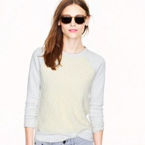 J. Crew Tops - SALE TODAY! J. Crew Cable Sweatshirt