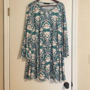 Pink Clove Dresses & Skirts - 70s print dress