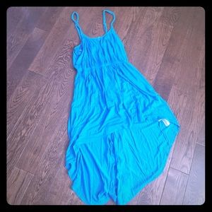 High low cotton summer dress blue. Forever 21