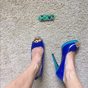 Mossimo Shoes - Beautiful colorblock peep toe heels size 7.5