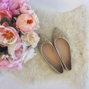 J. Crew Shoes - J.Crew Gemma Gold Flats