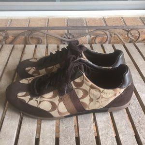 Coach Brown & Tan Joss Sneakers