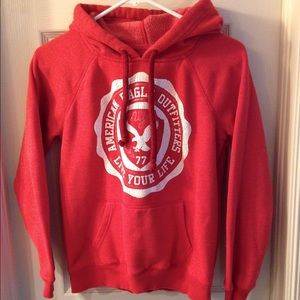 American Eagle hoodie sweater red Sz S