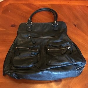 Style & co black purse with coin purse attached.