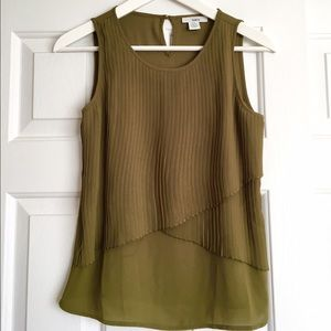 Bar III Sleeveless Layers Top