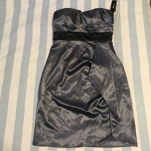 Dresses & Skirts - Grey satin cocktail dress
