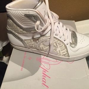 Once a few times baby phat high top tennis.