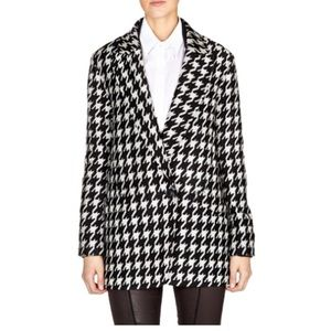 Theory houndstooth wool coat
