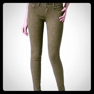 Paige Honeycomb Vertigo Skinny Jean size 30