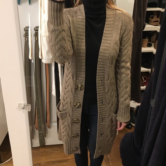 81% off Vince Sweaters - 🎉SALE🎉Vince cable knit long sweater ...