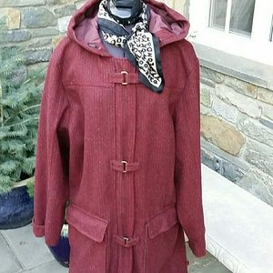 Woolrich Jackets & Blazers - Woolrich long wool hooded duffle coat