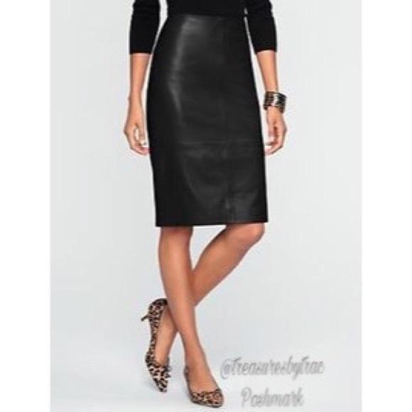 84 talbots dresses skirts talbots leather pencil