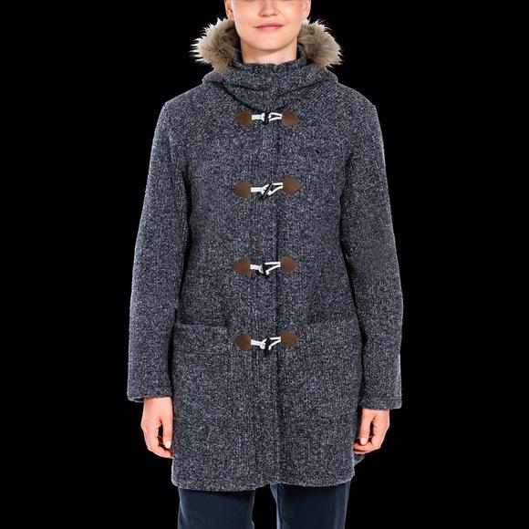 jack wolfskin damen milton coat schwarz