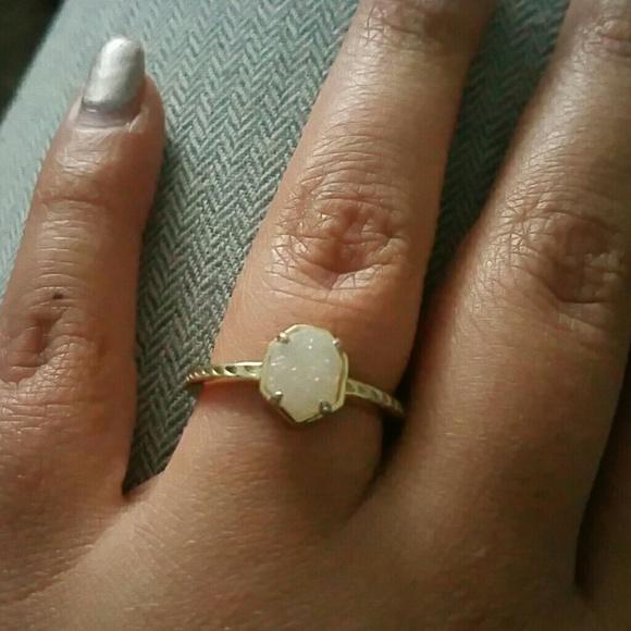 f52f7ecb80ede Kendra scott Calvin drusy ring in size 8