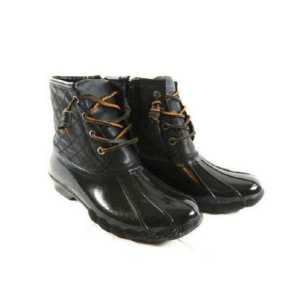 5255a7228f3 Steve Madden Tillis Black Duck Boots