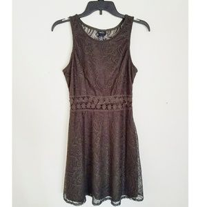 New with Tag Olive Green Lace Dress Knee Length M