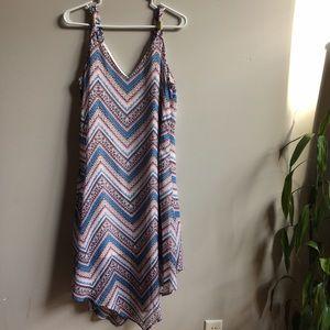 Halo Dresses & Skirts - **FLASH** NWT Stripe Sharkbite Dress